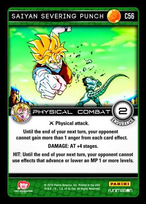 Dragon Ball Z Vengeance Common Foil Saiyan Severing Punch C56