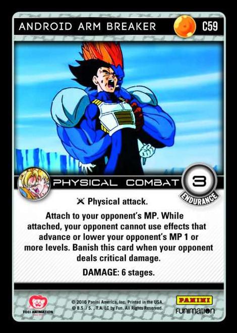 Dragon Ball Z Vengeance Common Foil Android Arm Breaker C59