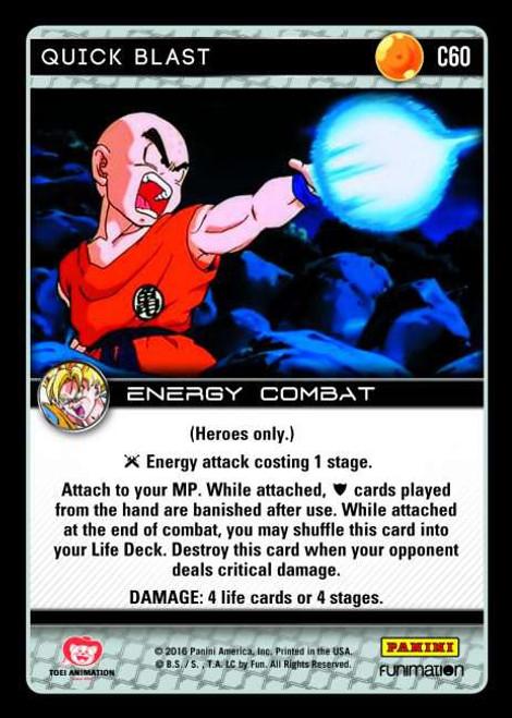 Dragon Ball Z Vengeance Common Foil Quick Blast C60