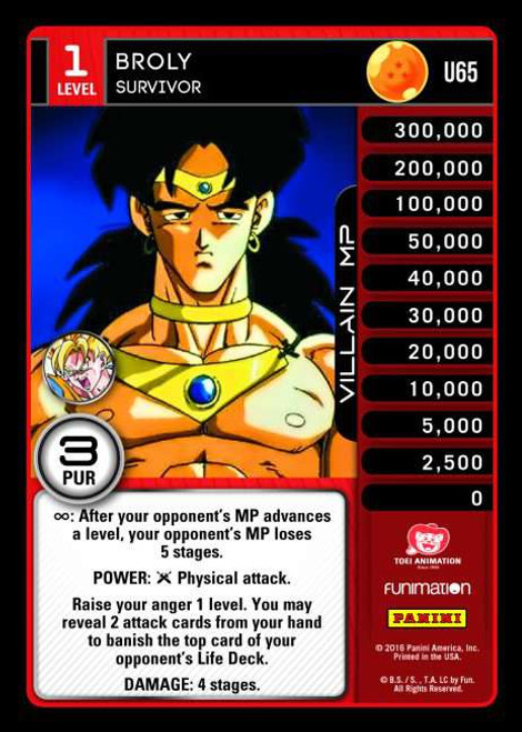 Dragon Ball Z CCG Vengeance Uncommon Foil Broly - Survivor U65