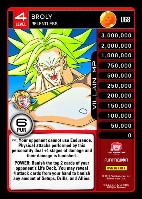 Dragon Ball Z CCG Vengeance Uncommon Foil Broly - Relentless U68