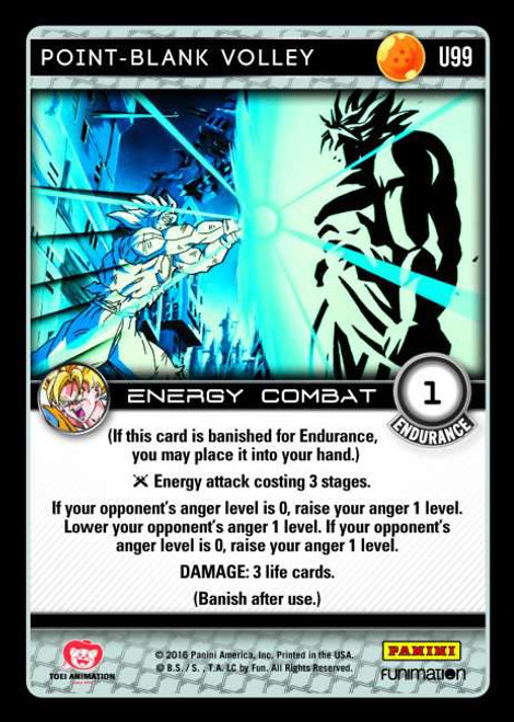 Dragon Ball Z Vengeance Uncommon Foil Point-Blank Volley U99