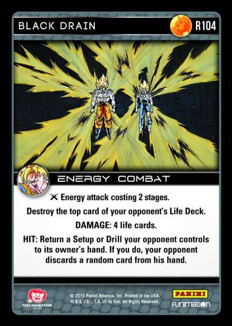 Dragon Ball Z Vengeance Rare Foil Black Drain R104