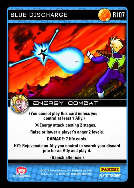 Dragon Ball Z Vengeance Rare Foil Blue Discharge R107