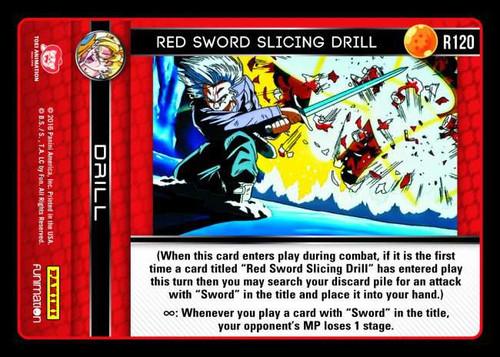 Dragon Ball Z CCG Vengeance Rare Foil Red Sword Slicing Drill R120