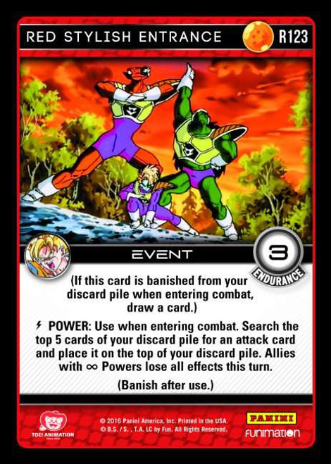 Dragon Ball Z CCG Vengeance Rare Foil Red Stylish Entrance R123