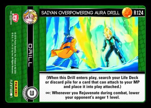 Dragon Ball Z Vengeance Rare Foil Saiyan Overpowering Aura Drill R124