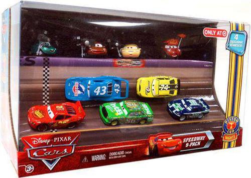Disney / Pixar Cars Multi-Packs Piston Cup Nights Speedway 9-Pack Exclusive Diecast Car Set [Damaged Package]