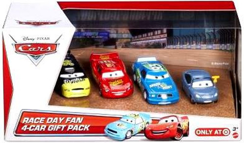 Disney / Pixar Cars Multi-Packs Race Day Fan 4-Car Gift Pack Exclusive Diecast Car Set [Set #2, Damaged Package]