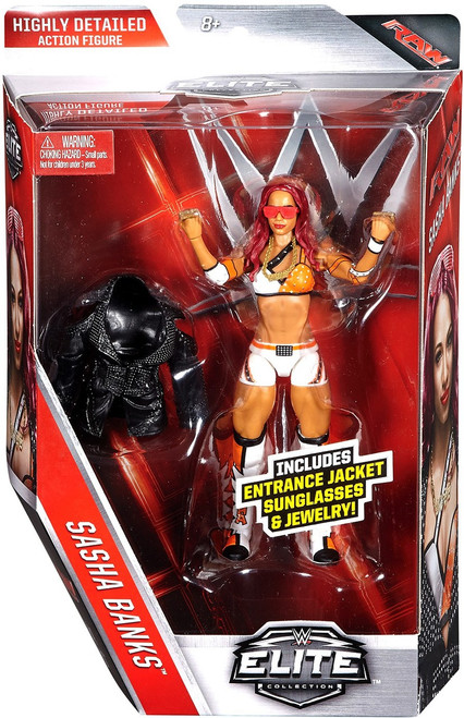 WWE Wrestling Elite Collection Series 44 Sasha Banks Action Figure [Entrance Jacket, Sunglasses & Jewelry]