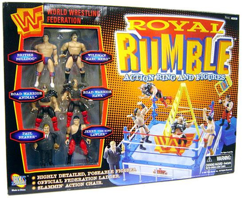 WWE Wrestling WWF Playsets Royal Rumble Action Ring and Figures Action Figure Playset [Damaged Package]