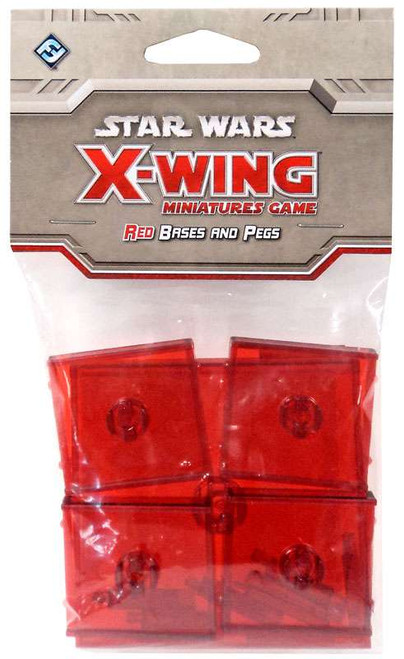 Star Wars X-Wing Miniatures Game Red Base & Pegs Pack