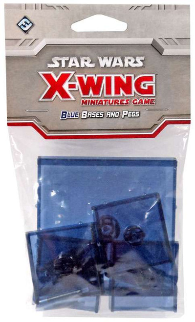 Star Wars X-Wing Miniatures Game Blue Base & Pegs Pack