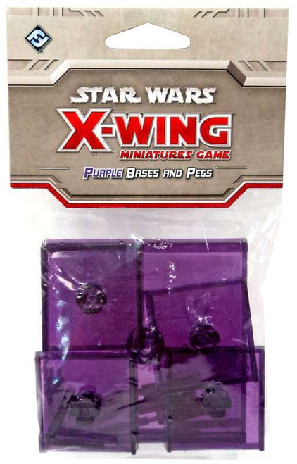 Star Wars X-Wing Miniatures Game Purple Base & Pegs Pack