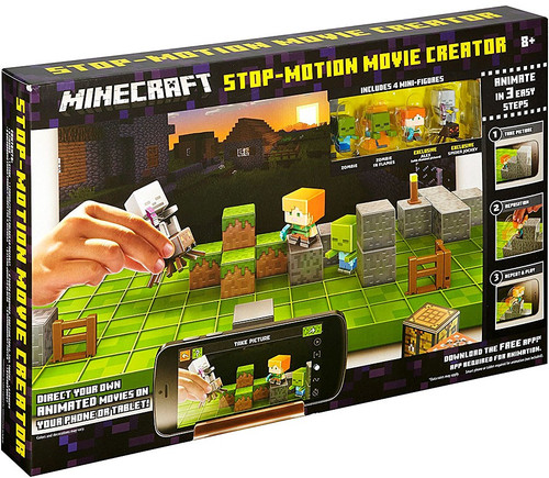 Minecraft Obsidian Series 4 Stop Motion Movie Creator Playset [Purple Box]