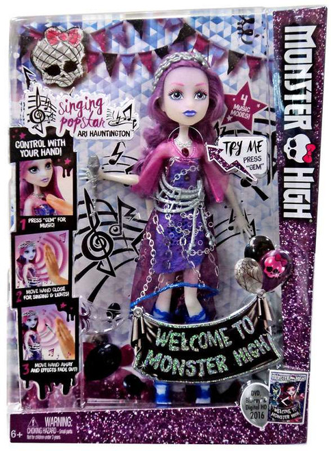 Welcome to Monster High Singing Pop Star Ari Hauntington Doll