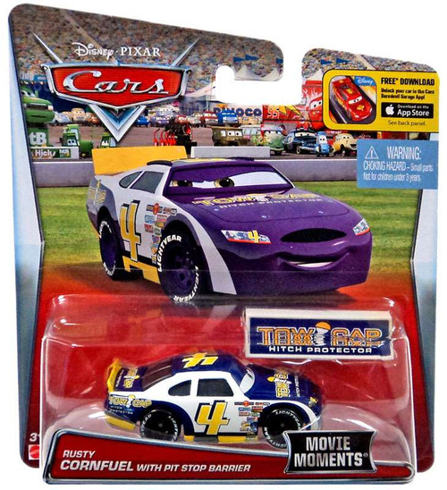 Disney / Pixar Cars Movie Moments Rusty Cornfuel Diecast Car [with Pit Stop Barrier]