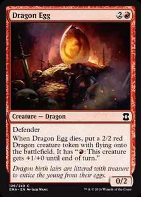 MtG Eternal Masters Common Foil Dragon Egg #126