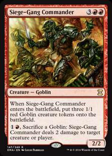 MtG Eternal Masters Rare Foil Siege-Gang Commander #147