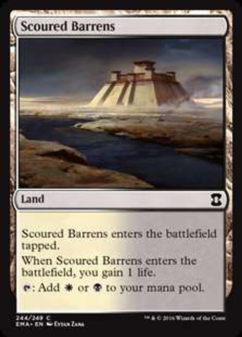 MtG Eternal Masters Common Foil Scoured Barrens #244