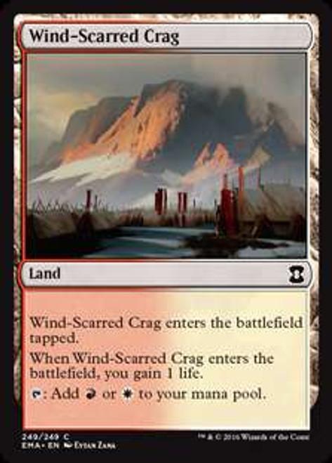 MtG Eternal Masters Common Foil Wind-Scarred Crag #249