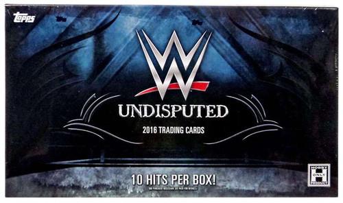WWE Wrestling Topps WWE 2016 Undisputed Trading Cards HOBBY Box [10 Packs]