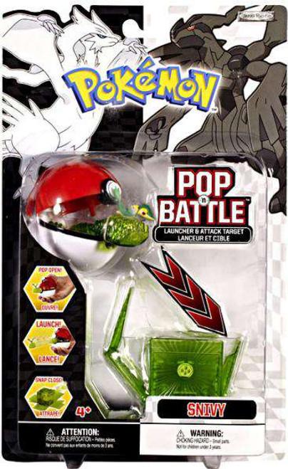 Pokemon Black & White Series 1 Pop n' Battle Snivy Launcher [Damaged Package]