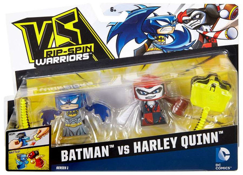 VS Rip-Spin Warriors DC Comics Series 1 Batman vs Harley Quinn Mini Figure 2-Pack