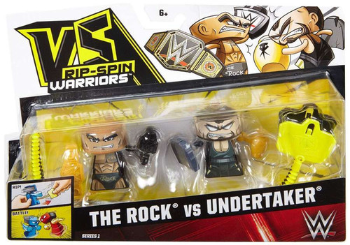 VS Rip-Spin Warriors WWE Wreslting The Rock vs Undertaker Mini Figure 2-Pack