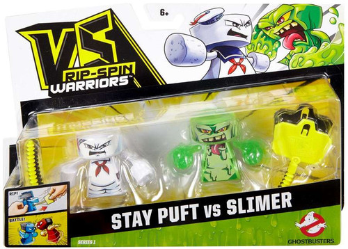 VS Rip-Spin Warriors Ghostbusters Stay Puft vs Slimer 2-Pack