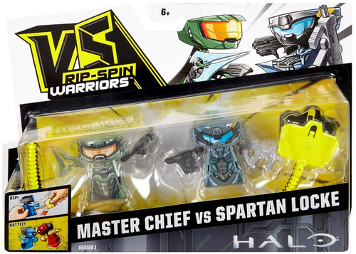 VS Rip-Spin Warriors Halo Series 1 Master Chief vs Spartan Locke Mini Figure 2-Pack