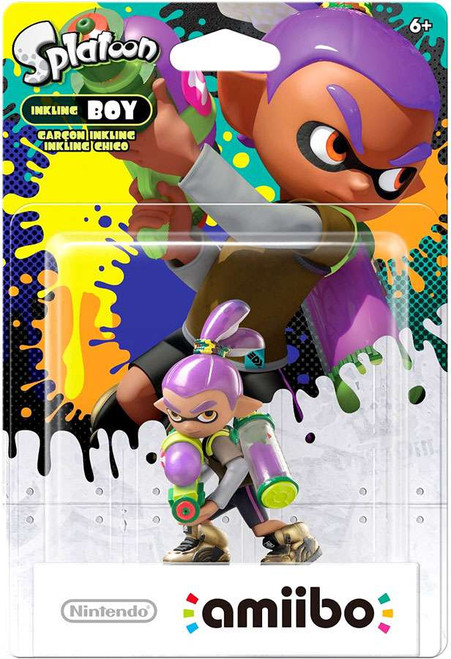 Nintendo Splatoon Amiibo Inkling Boy Mini Figure [Purple]