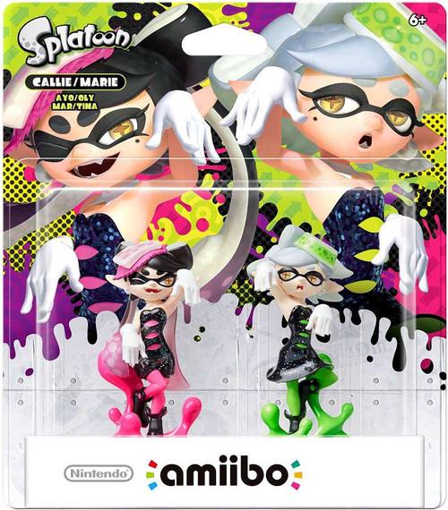 Nintendo Splatoon Amiibo Callie & Marie Mini Figure 2-Pack