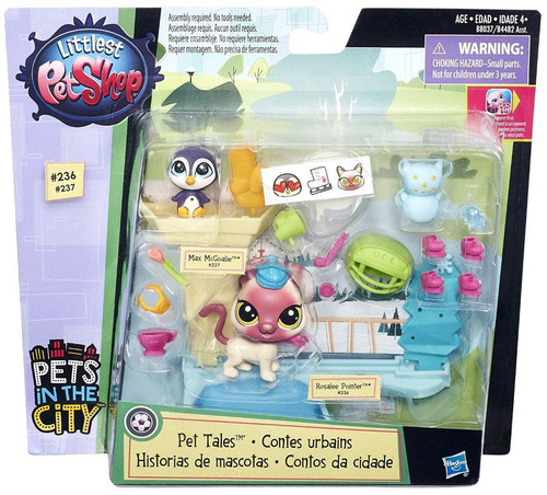 Littlest Pet Shop Pets in the City Ice Skating Pets Playset [Pet Tales]