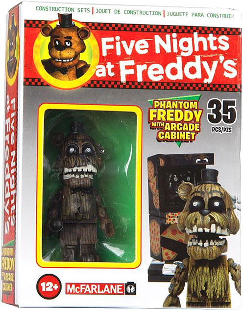 McFarlane Toys Five Nights at Freddy's Phantom Freddy with Arcade Cabinet Micro Figure Build Set
