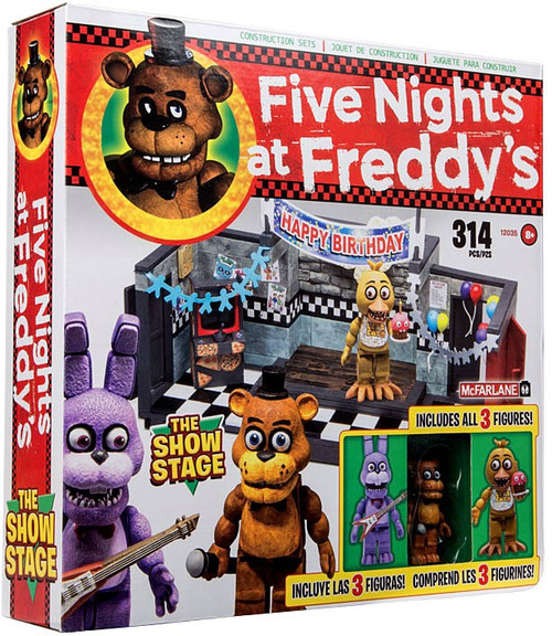 McFarlane Toys Five Nights at Freddy's Show Stage Construction Set [Freddy, Bonnie & Chica]