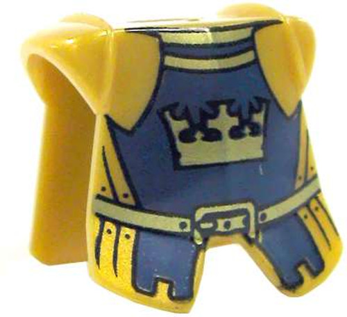 LEGO Castle Armor Golden Crown Breastplate with Blue Trim [Loose]