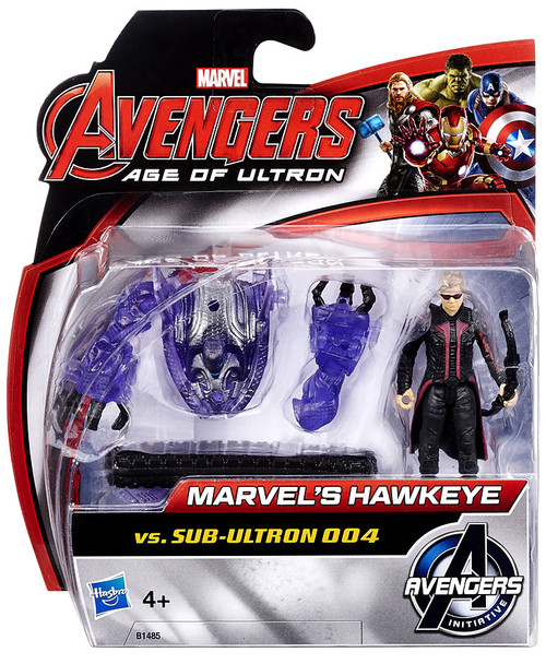 Avengers Age of Ultron Marvel's Hawkeye vs. Sub-Ultron 004 Action Figure 2-Pack [Damaged Package]