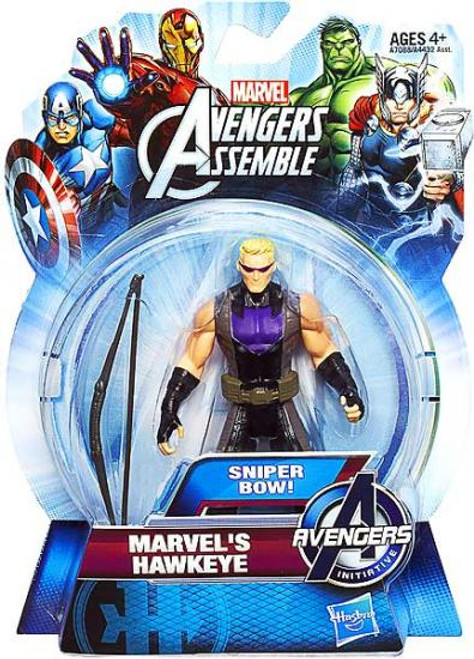 Avengers Assemble Marvel's Hawkeye Action Figure [Sniper Bow, Damaged Package]