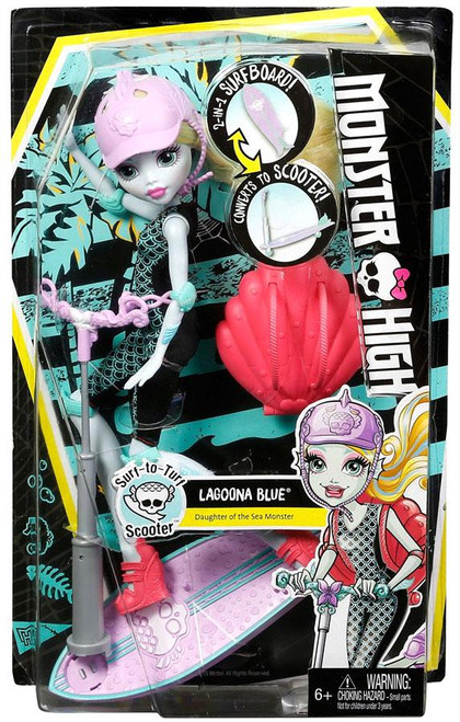 Monster High Surf-to-Turf Scooter Lagoona Blue Doll