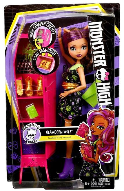 Monster High Ghoul-la-la Locker Clawdeen Wolf Doll