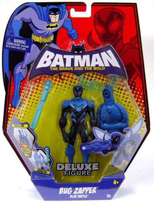 Batman The Brave and the Bold Deluxe Bug Zapper Blue Beetle Action Figure
