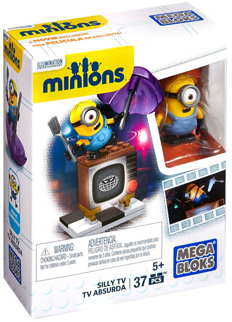 Mega Bloks Minions Silly TV Set #38018 [Loose]