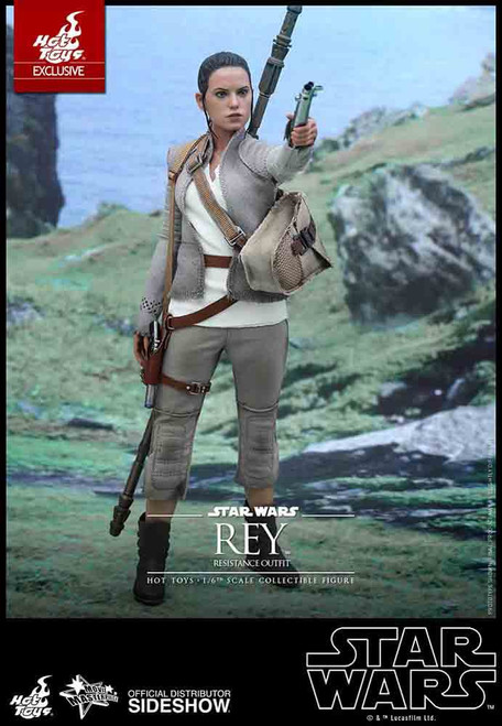 Star Wars The Force Awakens Movie Masterpiece Rey Collectible Figure [Resistance Outfit]