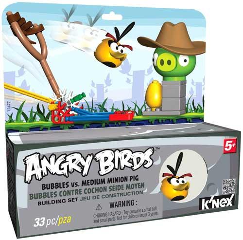 K'NEX Angry Birds Bubbles vs. Medium Minion Pig Set #72477 [Loose]
