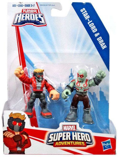 Marvel Playskool Heroes Super Hero Adventures Star-Lord & Drax Action Figure 2-Pack