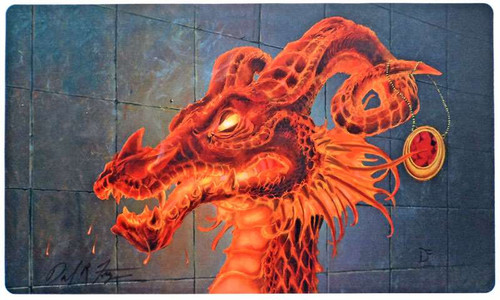 MtG Card Supplies Inferno Ruby Mox Dragon Play Mat [Autographed by Daniel Frazier]
