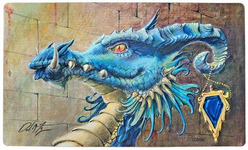 MtG Card Supplies Sapphire Dragon Play Mat [Autographed by Daniel Frazier]