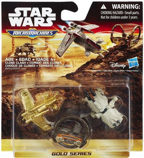 Star Wars The Force Awakens Micro Machines Gold Series Clone Clash Vehicle 3-Pack
