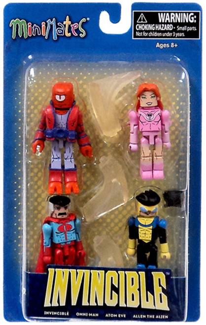 Minimates Invincible, Atom Eve, Omni-Man & Allen the Alien Minifigure 4-Pack [Loose]